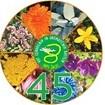 Logotip 45.-te obletnice vrta zdravilnih in aromatičnih rastlin.
