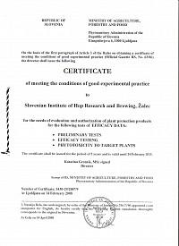 GEP Certificate (ENG)